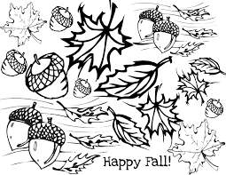 Fall Leaves Outline Coloring Page At Pages With Leaf