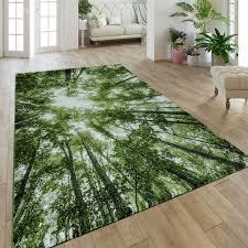 kurzflor teppich wohnzimmer natur design wald look