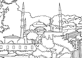 Coloring Page Mosque Buildings And Architecture 9 Printable Pages