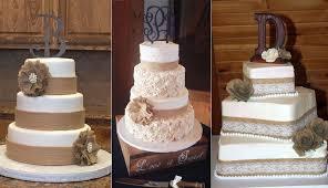 Rustic Burlap Wedding Cakes