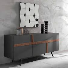 design wohnzimmer sideboard in dunkelgrau dioba