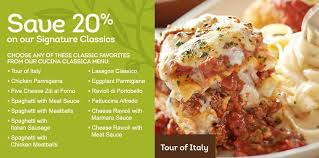 Olive Garden Coupon  f Signature Classics More Dining