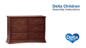 Ameriwood Dresser Assembly Instructions by Delta Children Bentley 6 Drawer Dresser Assembly Video Youtube