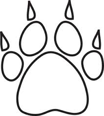 Tiger Paw Clipart Black And White Panda Free Foot Print Coloring Page