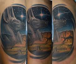 Fantastic Egyptian God Anubis Tattoo