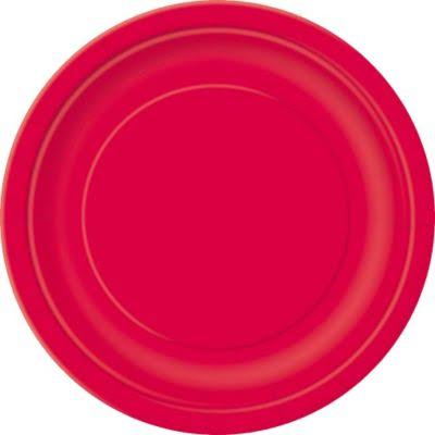 Cake Plates - Red, 20 Count