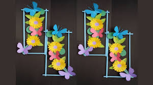 DIY Wall Decoration Idea How To Make Beautiful Flower Hanging For