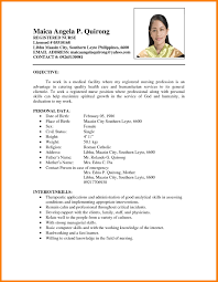 Sample Resume For Nurses With Experience Pdf Awesome In Philippines Valid Format