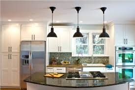 staggering the height of kitchen island pendant lights kitchen
