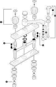 Delta Leland Kitchen Faucet Manual by Silver Delta Kitchen Faucet Replacement Parts Deck Mount Two