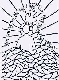 Wonderfull Design Jesus Baptism Coloring Page 298 Best Of Images On Pinterest Sunday School