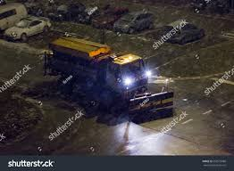 100 Truck Emergency Lights Snow Plow Night Stock Photo Edit Now