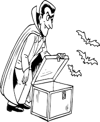 Interesting Idea Halloween Coloring Pages Dracula Scary Halloween