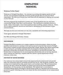 Employee Manual Template Free