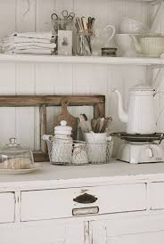 Shabby Chic White Vintage Kitchen By Design Ideas