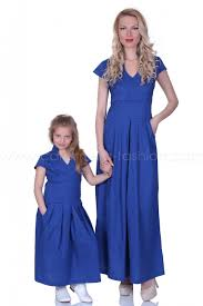 long blue cotton casual dress 200054 at the best price caramella