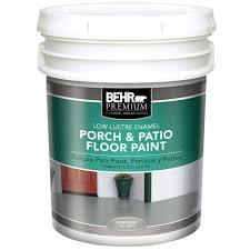 Porch Paint Colors Behr by Behr Premium Plus 5 Gal Low Luster Enamel Porch And Floor Paint