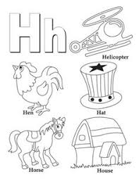 Letter H Coloring Pages 14 My A To Z Book G Page