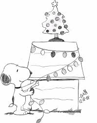 Snoopy Christmas Coloring Pages More