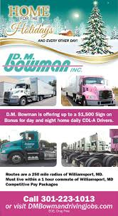 CDL-A DRIVERS, D.m Bowman, Williamsport, MD Indianapolis Local Trucking Job Home Daily 4000 Sign On Job In Driver Hits 2 Million Miles With Local Truck Driving Jb Hunt How Deal Working A Home Daily Trucking Job Youtube Jobs In Nj Best Image Kusaboshicom Texas Cdl Tx Women Drivers Have Each Others Backs Blog Atlanta Stellar Express Trucking Companies Kentucky Indiana Careers Ryder Class A Full Time Hourly Pay Hub Group
