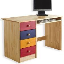 bureau enfant pin bureau enfant malte 4 tiroirs lasuré multicolore achat vente