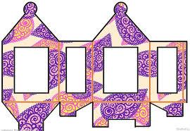 DIY Diwali Paper Lantern Craft Template 4