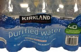 Case Of Kirkland Purified Water