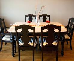 Dining Room Chairs Upholstered Seat Excellent Decoration Reupholstered Oilcloth Chair
