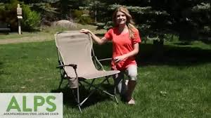 alps mountaineering king kong chair youtube