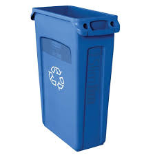 Rubbermaid mercial Products Slim Jim 23 Gal Blue Recycling