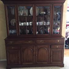 Best Pennsylvania House Cherry China Cabinet hutch for sale in St