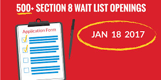 New Section 8 Waiting List Openings – 1 18 2017 Affordable