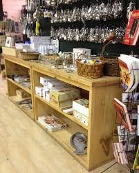 Rustic Wood Low Shelf Display Counter Open Shelving Retail Store Market General