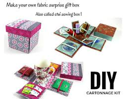fabric covered box diy kit fabric box with dividers