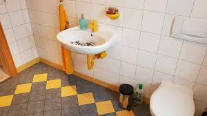 waschbecken weiß gäste wc inkl zubehör in gelb