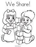 We Share Coloring Page