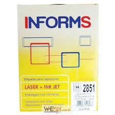 Etiqueta 030 Carta Com 100 Folhas 2851 Informs