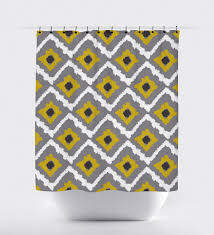 Yellow And White Curtains Etsy by Orange And Grey Shower Curtain Aidasmakeup Me Curtains Ideas