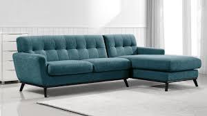 canape d angle bleu canapé d angle en tissu stockolm dossier capitonné mobilier moss