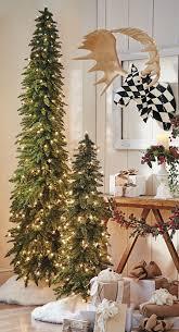 Stunning Slim Christmas Tree Decorations Celebration Red Pencil