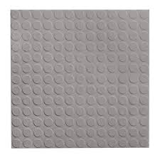FLEXCO RGT Rubber Floor Tile 18 In X Gray Full Spread