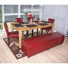 bank sitzbank mit aufbewahrung kriens kunstleder 180x45x45cm rot