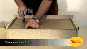 comment remplacer le fond d un tiroir de meuble south shore