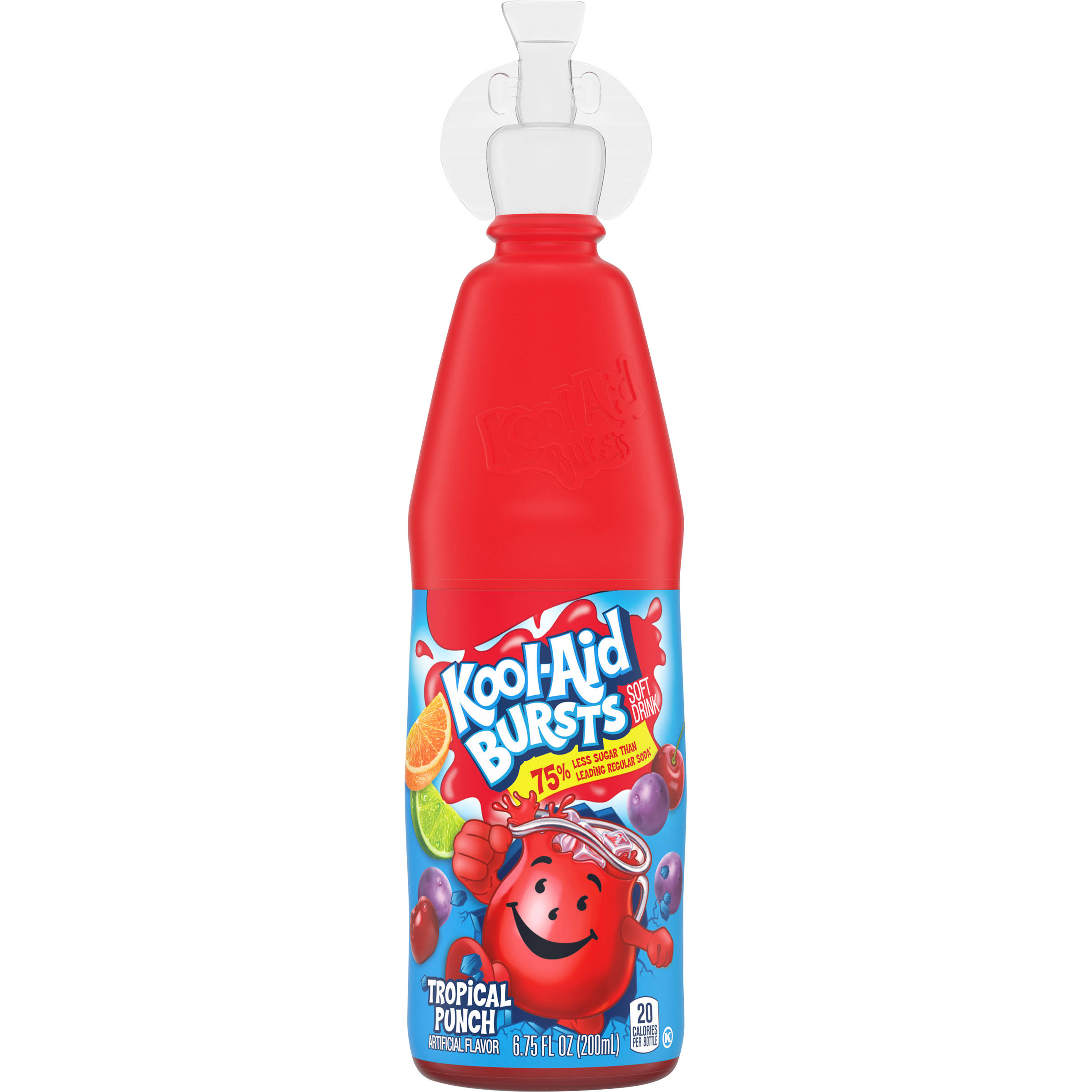 Kool Aid Bursts Soft Drink, Tropical Punch - 6.75 fl oz