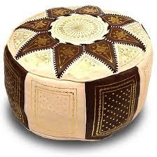 pouf en cuir marocain ou poufs sabra pour donner du style à votre