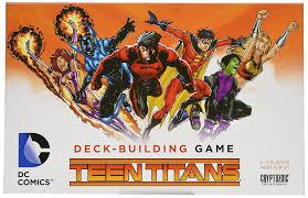 amazon com dc comics deck building game teen titans cards toys