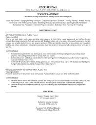 Sample Resume For Preschool Teacher Assistant Awesome Aide Job Description Classy Of Resumes Teaching Jobs Curriculum