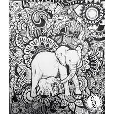 Elephant Floral Design By Byjamierose