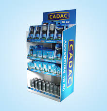 Customized 4 Tiers Floor Cardboard Product Display Stands