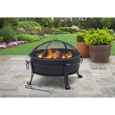 Walmart Patio Chair Covers by Furniture Mainstays 30 Inch Walmart Fire Pits In Black For Patio